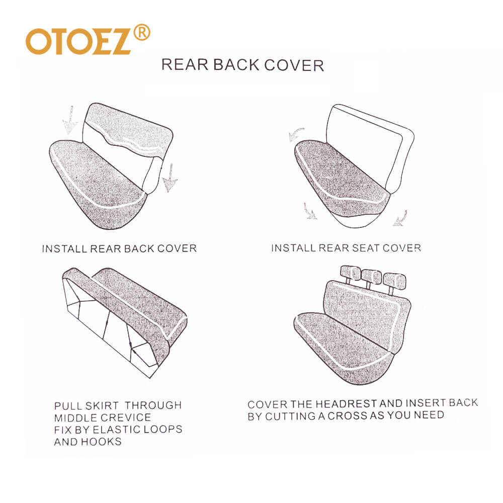 Rear back cover of the 2mm sponge car seat covers