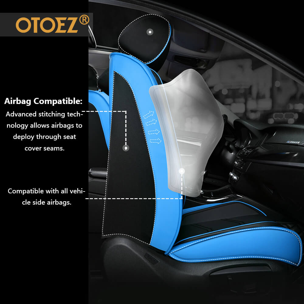 Airbag compatible adjustable 5 car Seats covers