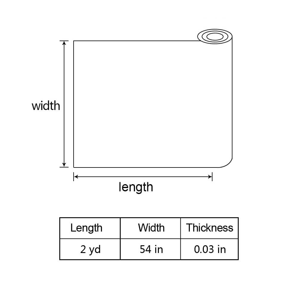 The size of the 2 yards faux leather fabric