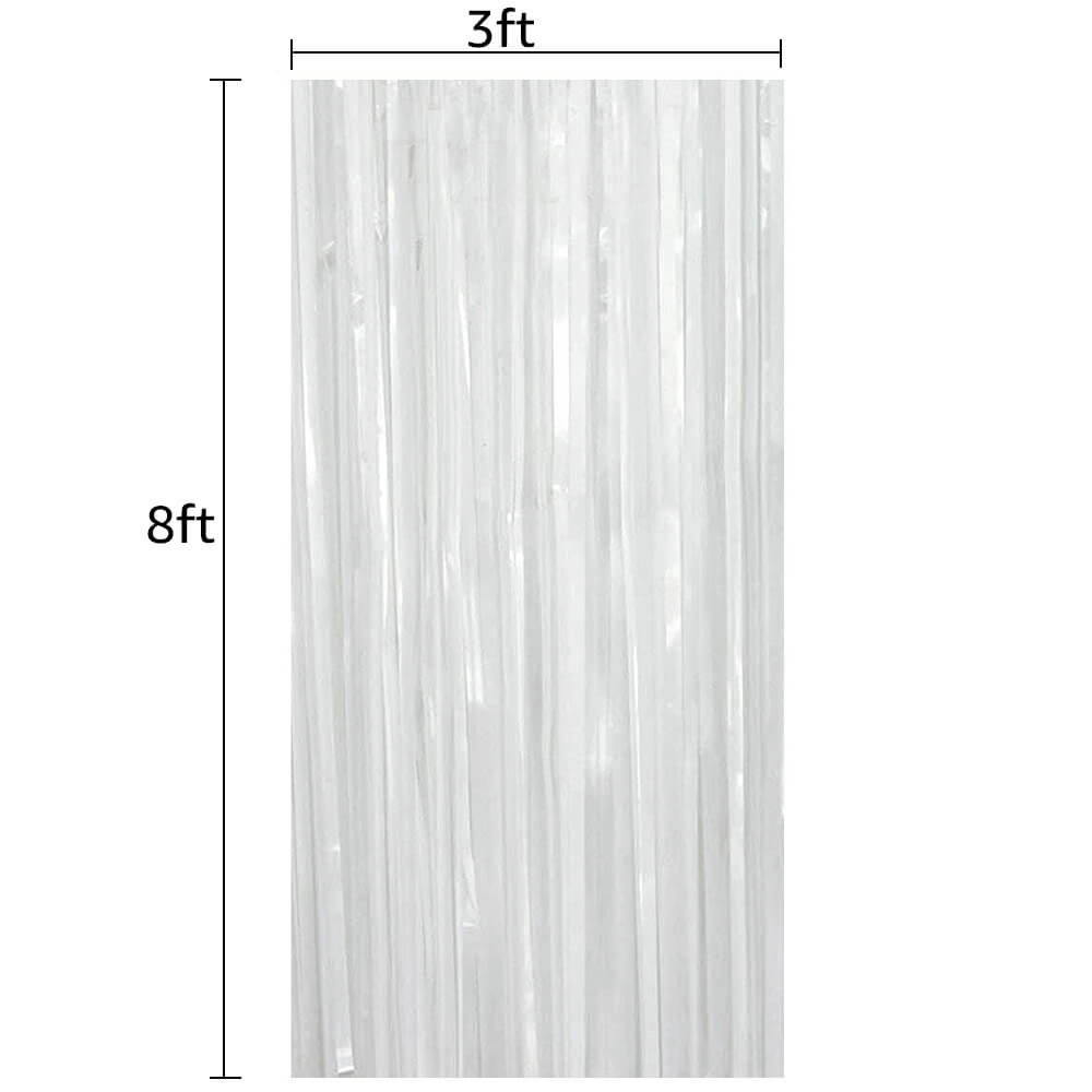 The size of the foil fringe curtain