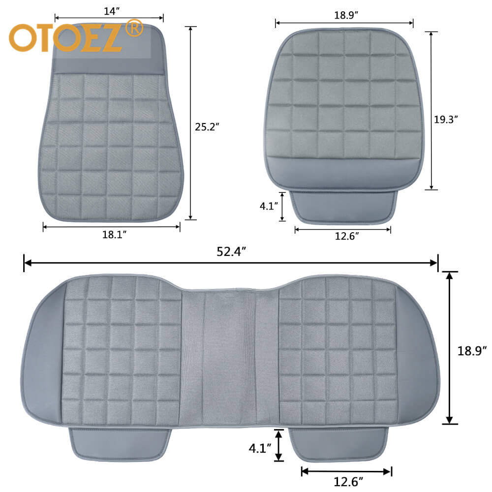 The size of the leather linen car seat cover