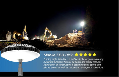 300W LED Mobile Work Light With Lifting Portable Tripod