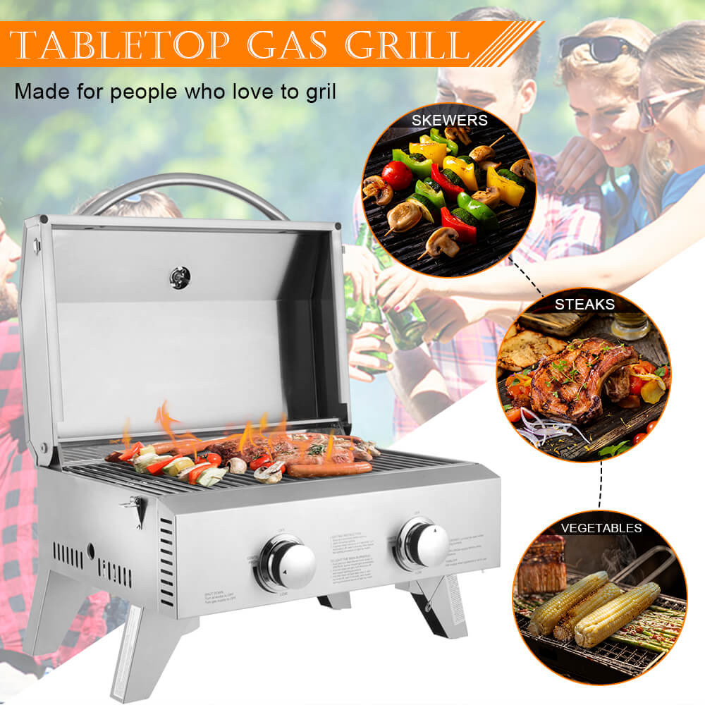 Double Head Small Gas Grill 10
