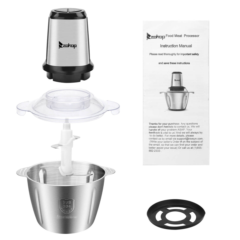 Stainless Steel Two Speed Electric Meat Grinder 12