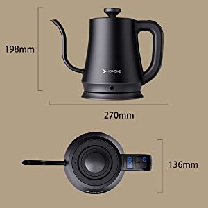 size of kettle