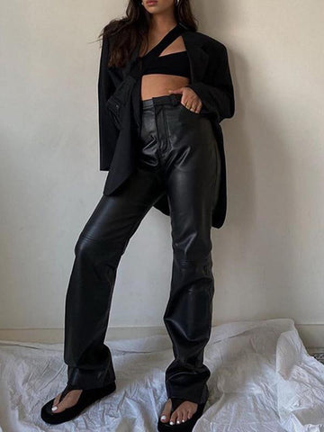 PU-leather Trousers at lapastyle for sale
