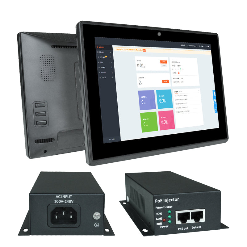 PoE tablet and PoE switch