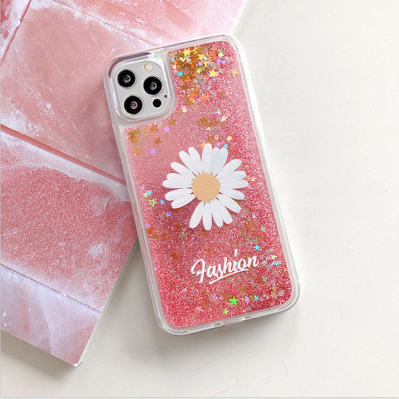 Casetic Little Daisy Quicksand Case for iPhone