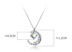 Kawaii Romantic Moon And Sun Pendant Clavicle Necklace