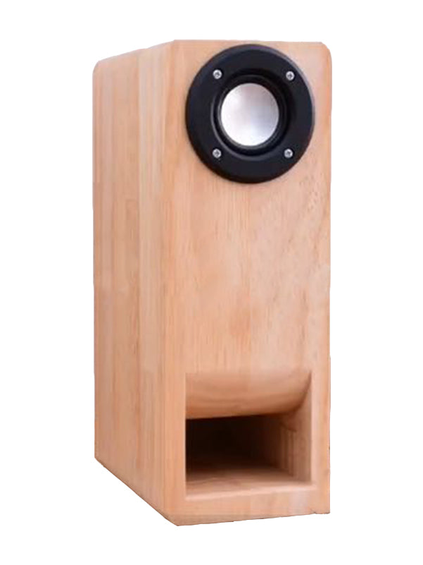 IWISTAO HIFI 3 Inches Full Range Speaker Empty Cabinet 1 Pair Finished Wood Labyrinth Structure Fixed Panel for Tube Amp