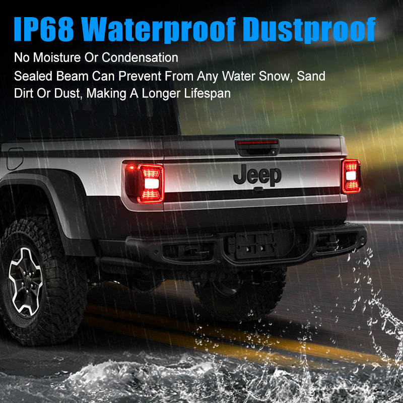 Multi-Function LED Tail Lights For Jeep Gladiator JT 2020-Later