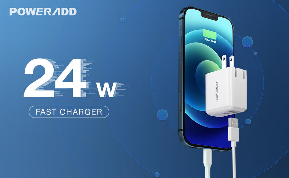 24W Dual USB Wall Charger
