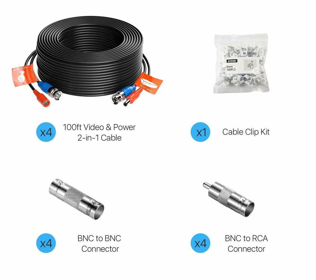 ZOSI_4pcs_100ft_video_cable_extension_package