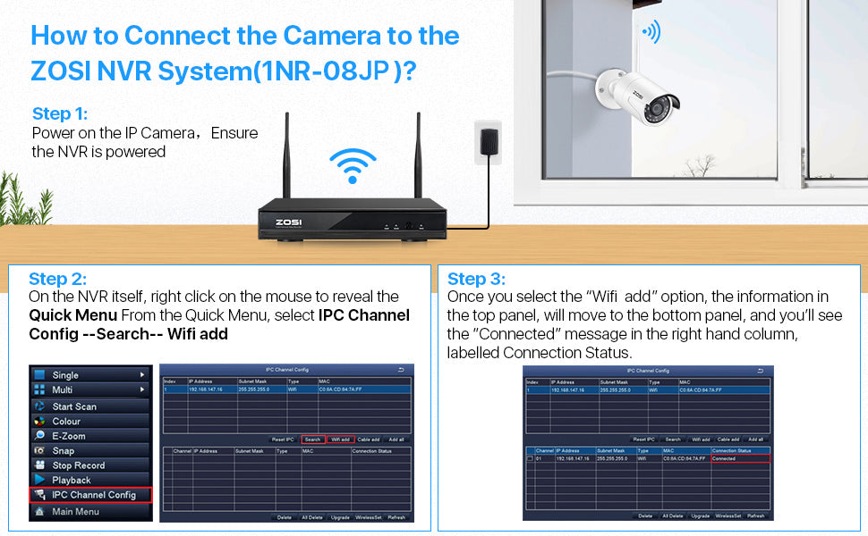 how to add extra camera to wireless security system