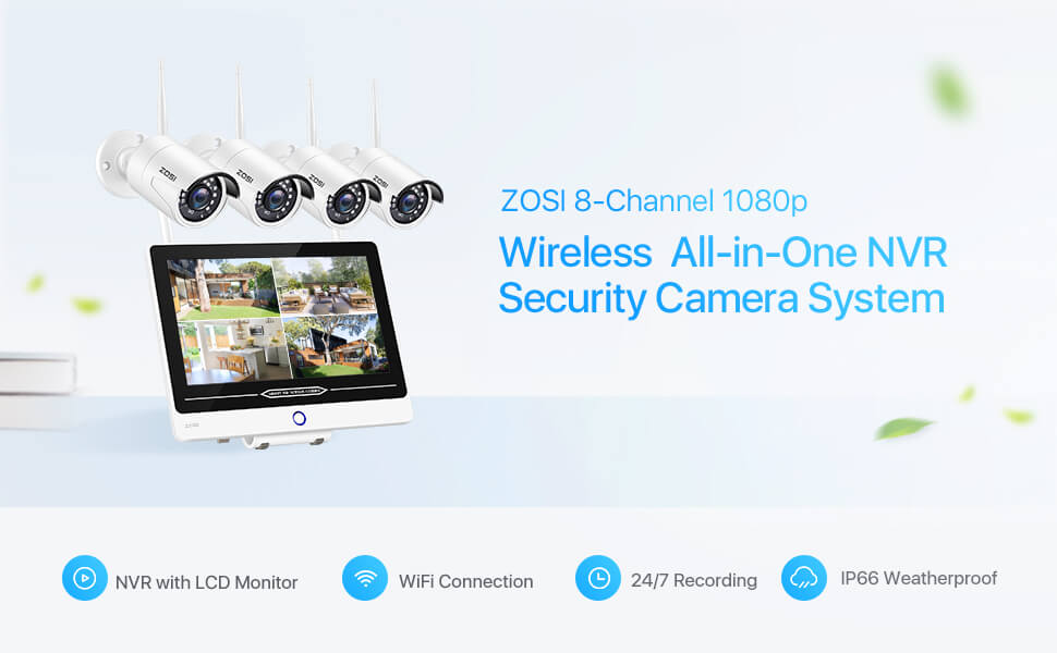 zosi all in one plug and play monitor system