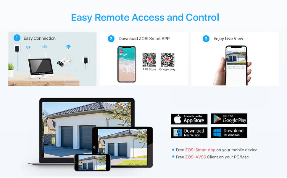 plug and play all in one security easy remote access