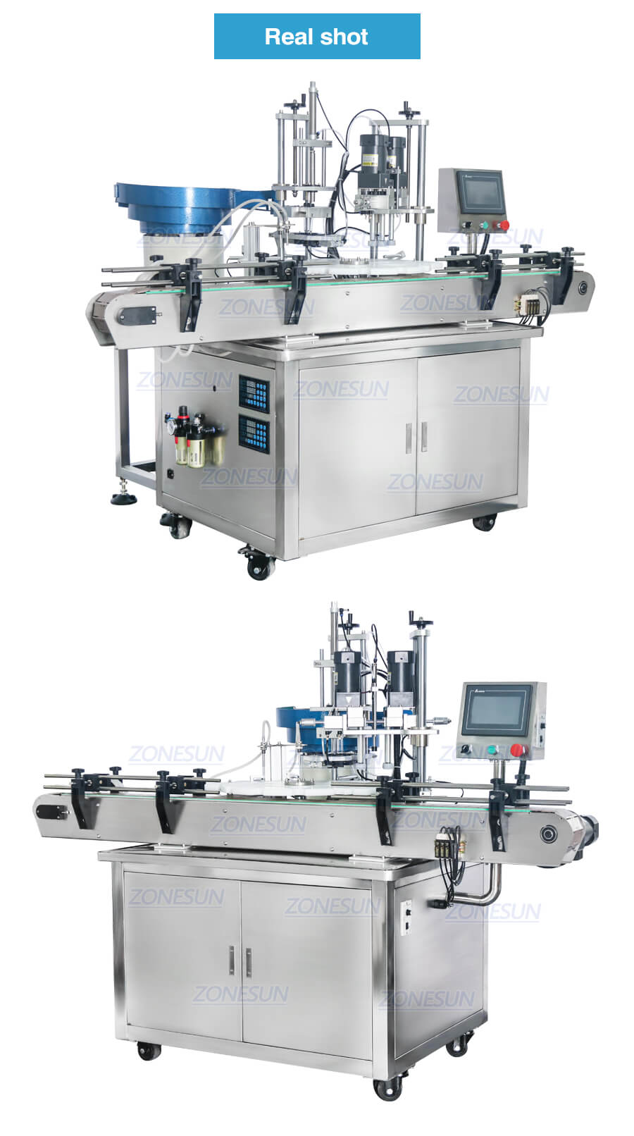 Real shot of ZS-AFC1 Monoblock Filling Capping Machine