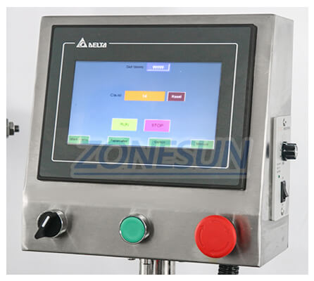 Operation Panel of ZS-AFC1 Monoblock Filling Capping Machine