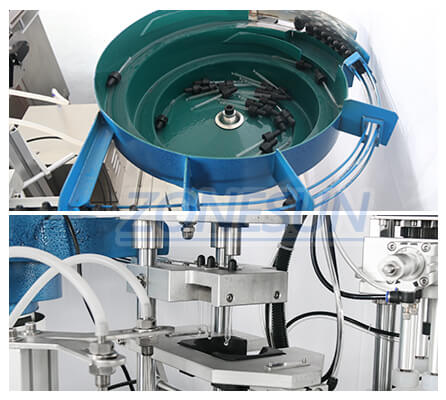 Cap feeder of ZS-AFC1 Monoblock Filling Capping Machine