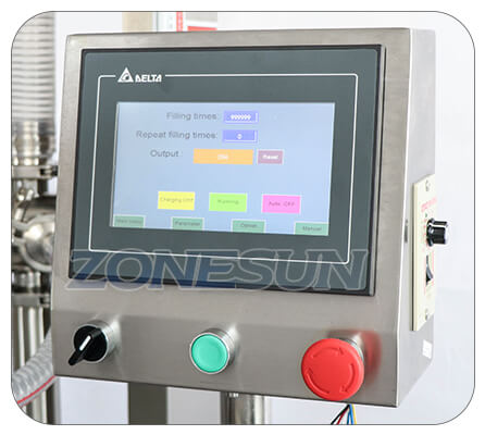 Operation Panle of Paste Piston Pump Filling Machine With Mixer Heater