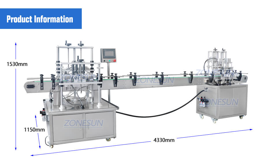 Dimension of Perfume Filling Line