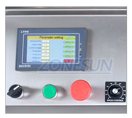 Operation Panel of ZS-DTMP4C Automatic Liquid Filling Machine