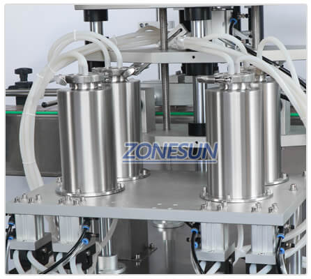 Material Cylinder of ZS-VTZL4A Automatic Vacuum Liquid Filling Machine