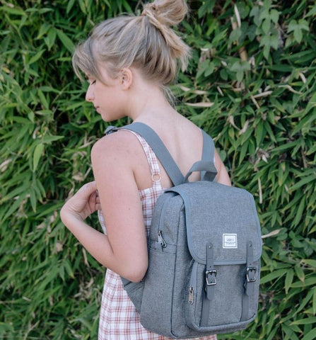 Laptop Backpack Casual Lightweight College Backpack Grey Color - Ulakcases