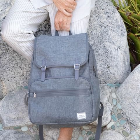 Lightweight Rucksack Slim Anti Theft Computer Bag Grey Color Cute for Girls Use - Ulakcases