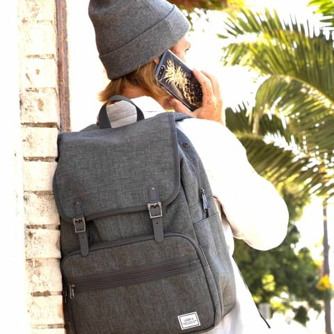 Lightweight Rucksack Slim Anti Theft Computer Bag Grey Color Stylish and Fashionable for daily use - Ulakcases