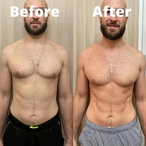 before and after water fast
