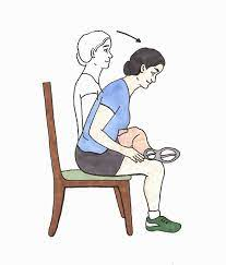 stretches for seniors in a chair