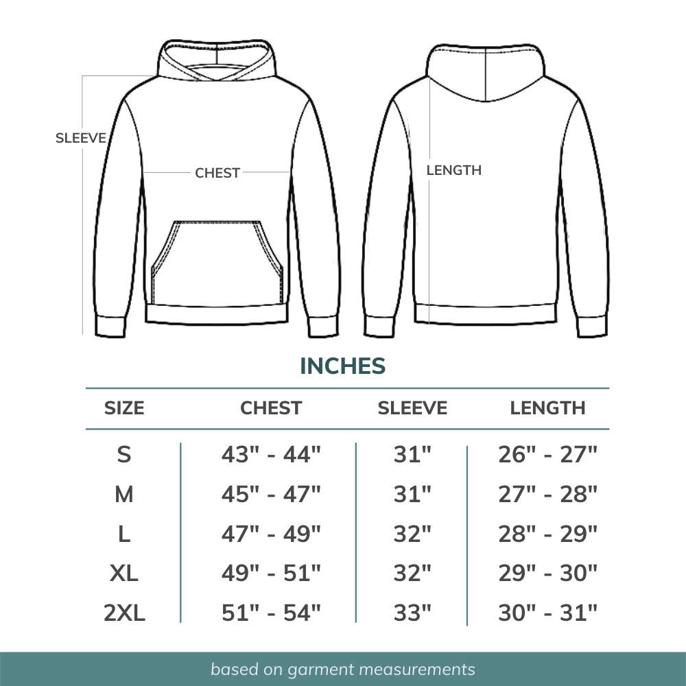 Spark Paws Hoodie Size Guide