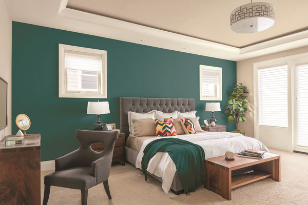 accent wall makes the room bigger