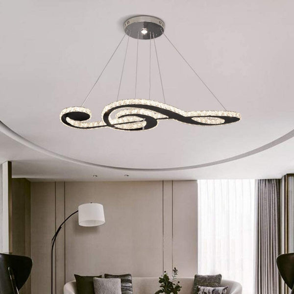 Musical Note Crystal Chandelier