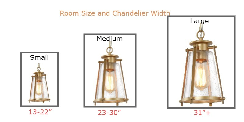 Small Medium and Large size chandelier with hanging height