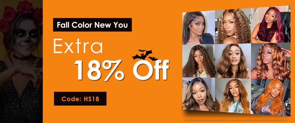 18% off for all Halloween wigs