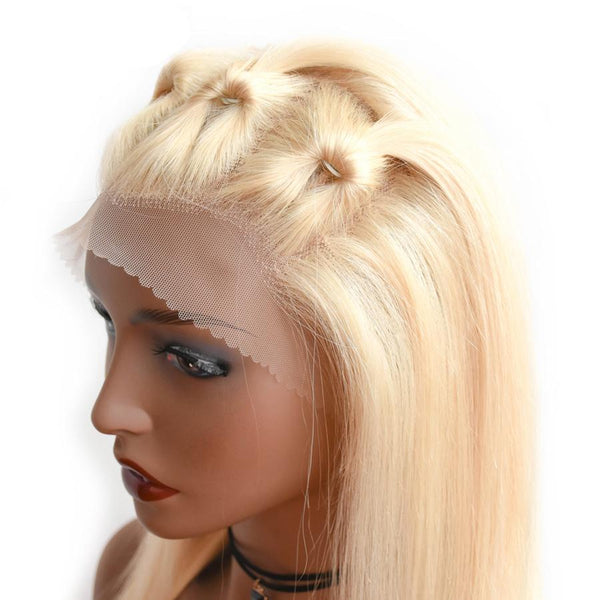 613 Blonde Silky Straight Lace Wig