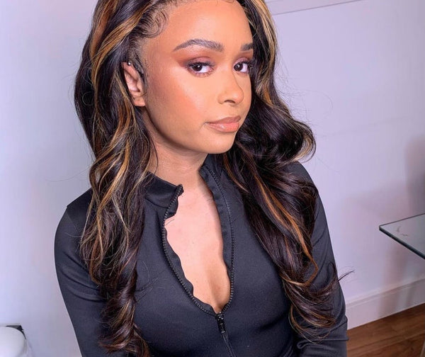 #FB30 Balayage Blonde Body Wave T Part Lace Part Wigs pictures of customer reviews