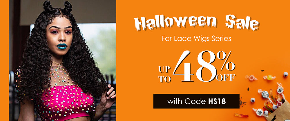 Halloween sale up to 48% for lace wigs