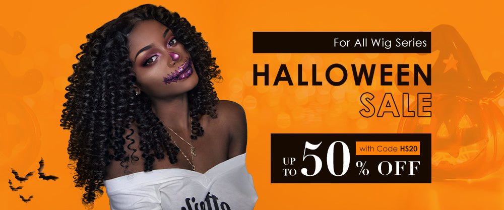 Halloween sale up to 50% for hair wigs
