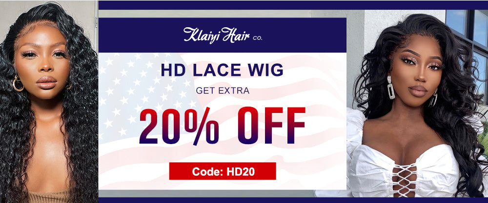 extra 20% off for HD lace wig