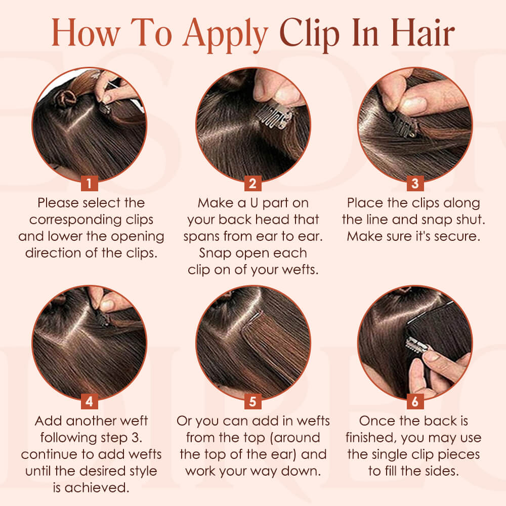 how to apply clip in hair