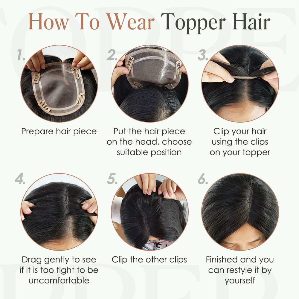 how to wear topper hair