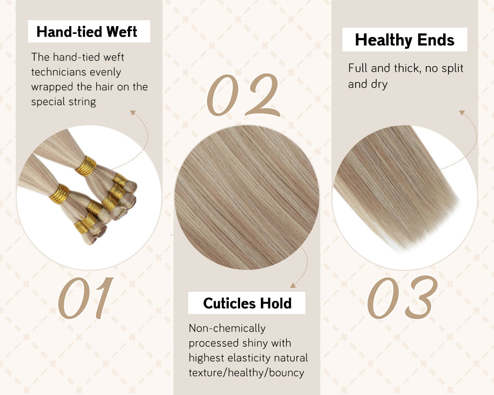 virgin weft bundles hair