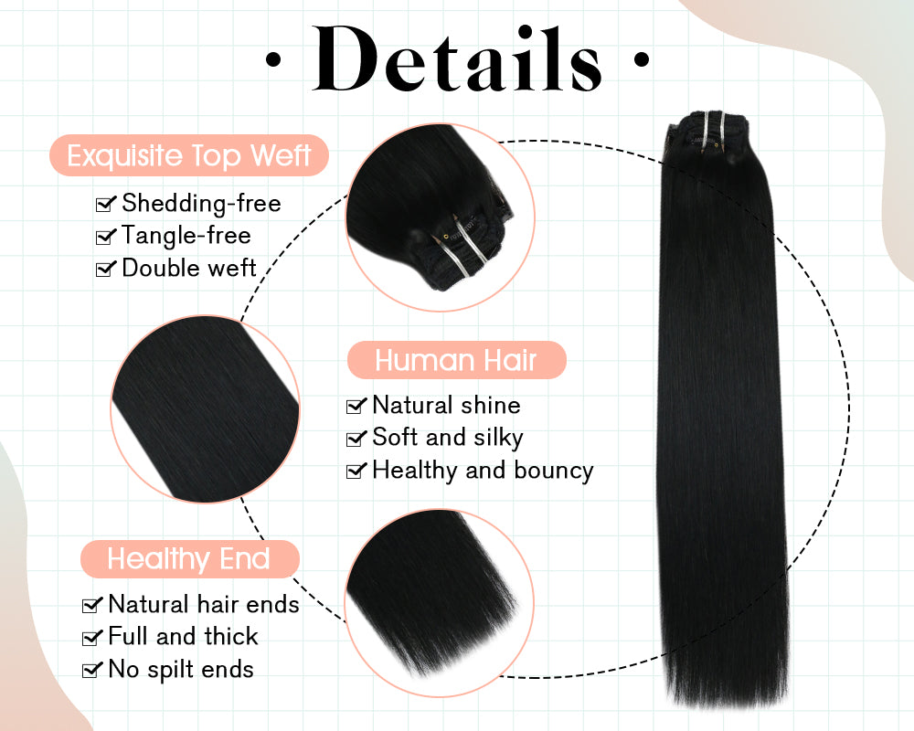 remy clip extensions human hair