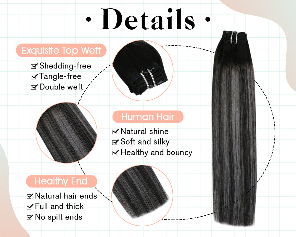 remy hair extensions clip in human hair