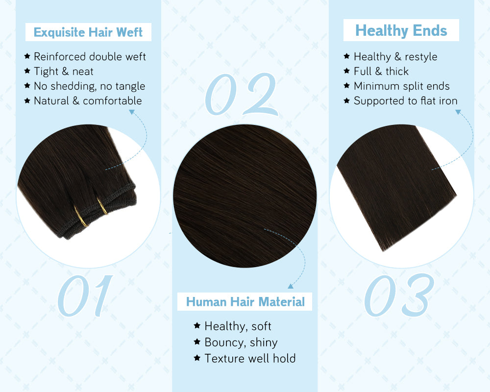hair extension weft