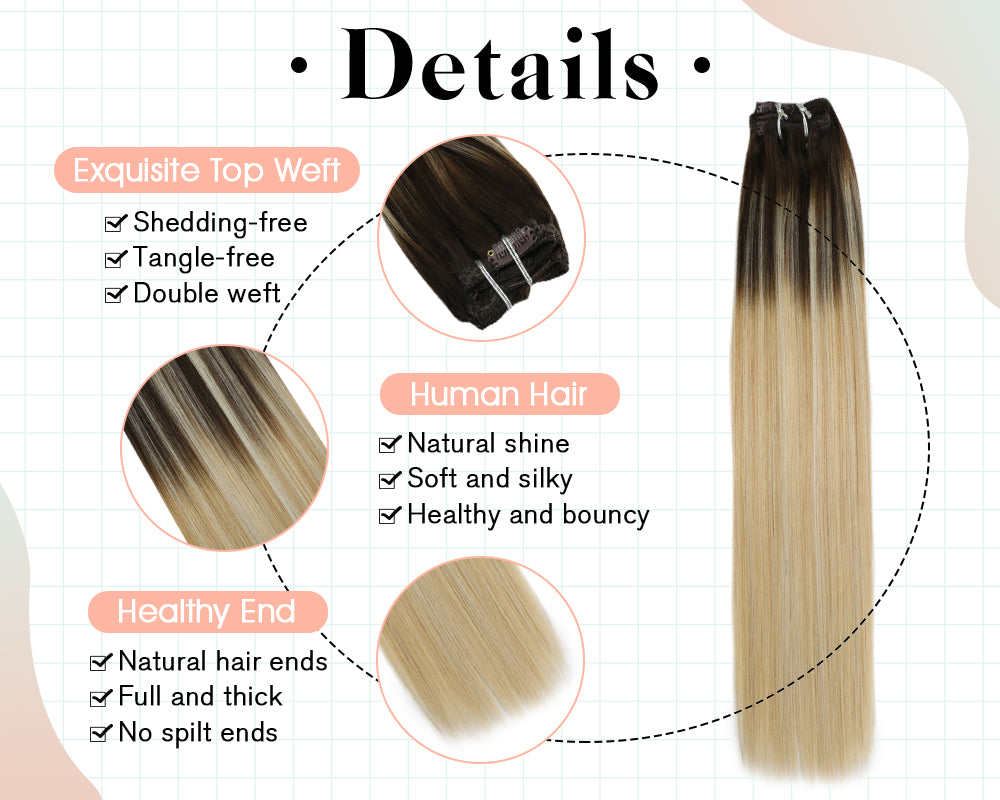 remy hair clip ins