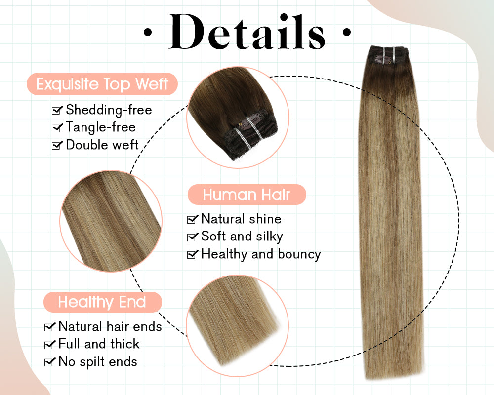 remy clip in human hair exstentions